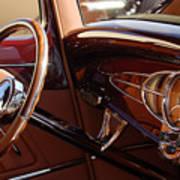 1932 Ford Hot Rod Steering Wheel 3 Art Print