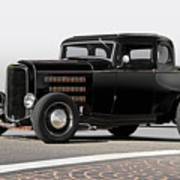 1932 Ford 'louvered' Coupe Art Print