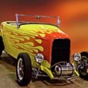 1932 Ford 'sunset' Studio' Roadster Art Print