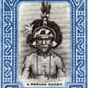 1932 Papuan Dandy Stamp Art Print