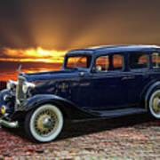1933 Chevrolet 4 Door Eagle Sedan Art Print