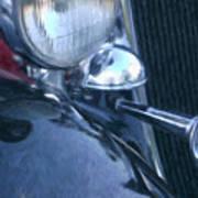 1933 Dodge Headlights And Horn Art Print