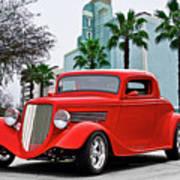 1933 Ford 'three Window' Coupe II Art Print