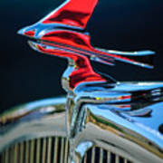 1933 Franklin Olympic Hood Ornament Art Print