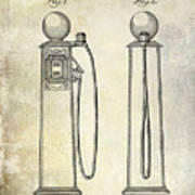 1933 Gas Pump Patent Art Print
