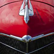 1933 Oldsmobile Hood Ornament Art Print