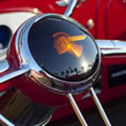1933 Pontiac Steering Wheel Art Print