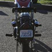 1934 Ariel Motorcycle Rear View Art Print