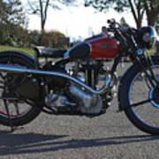 1934 Ariel Motorcycle Side View Art Print