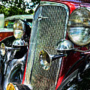 1934 Chevrolet Head Lights Art Print