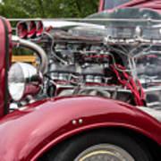 1934 Chevy Truck Motor Art Print