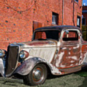 1934 Ford 'patina Plus' Coupe Art Print
