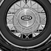 1934 Ford Roadster Spare Tire 2 Art Print