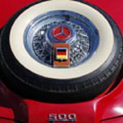 1934 Mercedes Benz 500k Roadster 8 Spare Tire Art Print