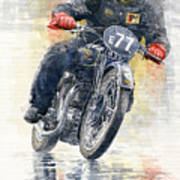 1934 Rudge Ulster Grand Prix Model  Art Print