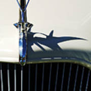 1934 Terraplane Coupe Hood Ornament Art Print