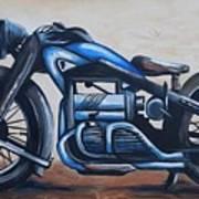 1934 Zundapp Motorcycle Art Print