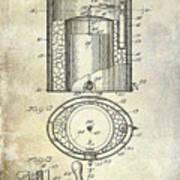 1935 Beer Equipment Patent  Art Print