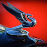 1935 Chevrolet Sedan Hood Ornament -0116c Art Print