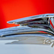 1935 Ford V8 Hood Ornament 3 Art Print