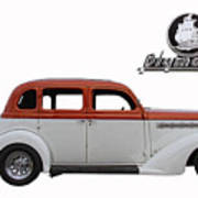 1935 Plymouth With Insignia Art Print