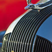 1935 Pontiac Sedan Hood Ornament Art Print