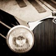 1936 Bugatti Type 57s Corsica Tourer Grille Emblem -1673s Art Print