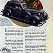 1936 Buick Century Classic Ad Art Print