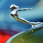 1936 Cadillac Hood Ornament 2 Art Print
