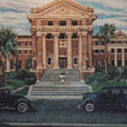 1936 Era Nueces County Courthouse Art Print