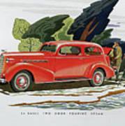 1936 La Salle Two Door Touring Sedan Art Print
