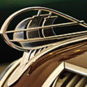 1936 Plymouth Sedan Hood Ornament Art Print