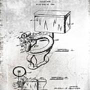 1936 Toilet Bowl Patent Antique Art Print