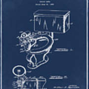 1936 Toilet Bowl Patent Blue Art Print