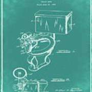 1936 Toilet Bowl Patent Green Art Print