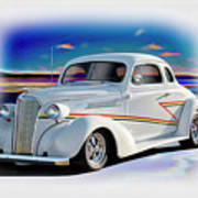 1937 Chevrolet Coupe 'accent Graphics' Art Print