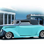 1937 Ford 'classic' Cabriolet Art Print