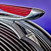 1937 Hudson Terraplane Sedan Hood Ornament 2 Art Print
