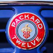 1937 Packard 12 Coupe Roadster Emblem Art Print