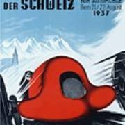 1937 Switzerland Grand Prix Racing Poster Art Print