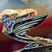 1938 Cadillac V-16 Sedan Hood Ornament Art Print