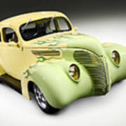 1938 Hot Rod Ford Coupe Art Print