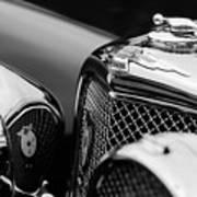 1938 Jaguar Ss100 3.5-liter Roadster Grille Art Print