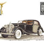 1938 Rolls Royce Phantom I I I Sedanca Deville Art Print