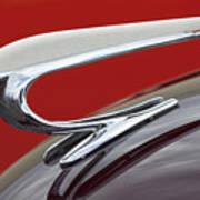1938 Willys Aftermarket Hood Ornament Art Print
