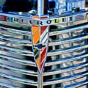 1939 Chevrolet Coupe Grille Emblem Art Print