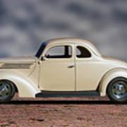 1939 Chevrolet White Coupe Art Print