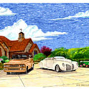 1939 Lincoln Zephyr  Family Home Art Print