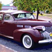 1940 Classic Cadillac  Art Print