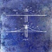 1940 Cymbal Patent Blue Art Print